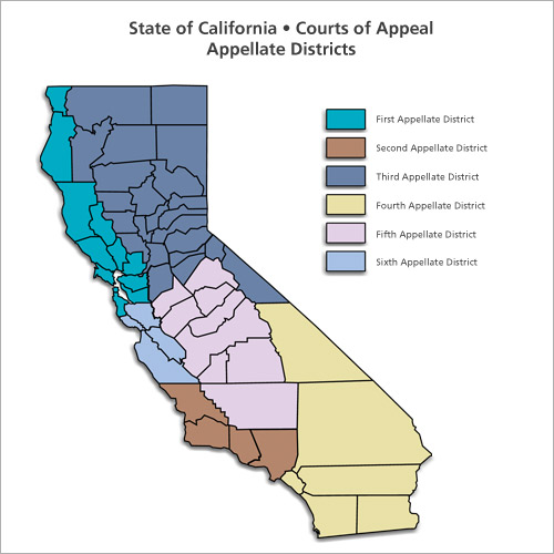CA Appellate Districts Map
